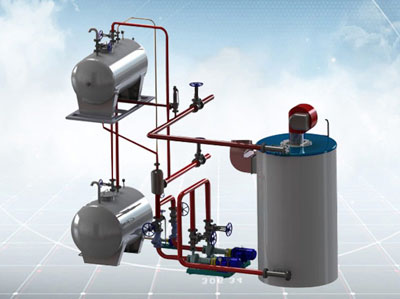 vertical thermal oil boiler