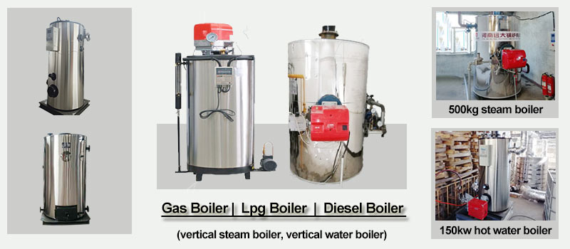 vertical gas fired boiler, small gas boiler