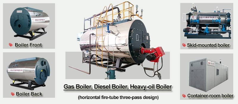 horizontal gas boiler, gas fired boiler
