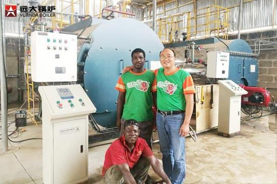 2 sets steam boilers Ghana