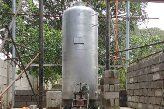 vertical coal hot water boiler
