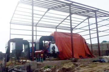 DZL4-1.5-T Biomass Fired Steam Boiler Installation In Rice Mill Nigeria