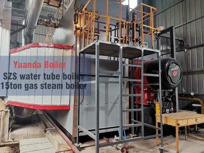 15ton gas oil water tube boiler